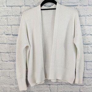 GAP White Open Front Cardigan - Size Medium